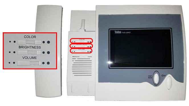 دربازکن تصویری تابا الکترونیک مدل TVD-2043