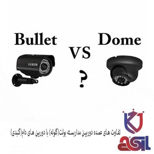 تفاوت های عمده دوربین مداربسته بولت(گلوله) با دوربین های دام(گنبدی)