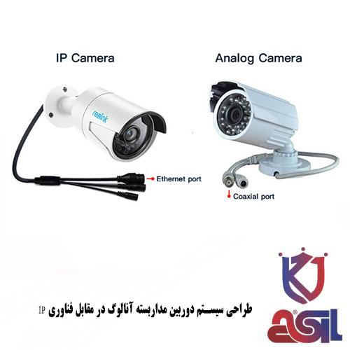 طراحی سیستم دوربین مداربسته آنالوگ در مقابل فناوری IP