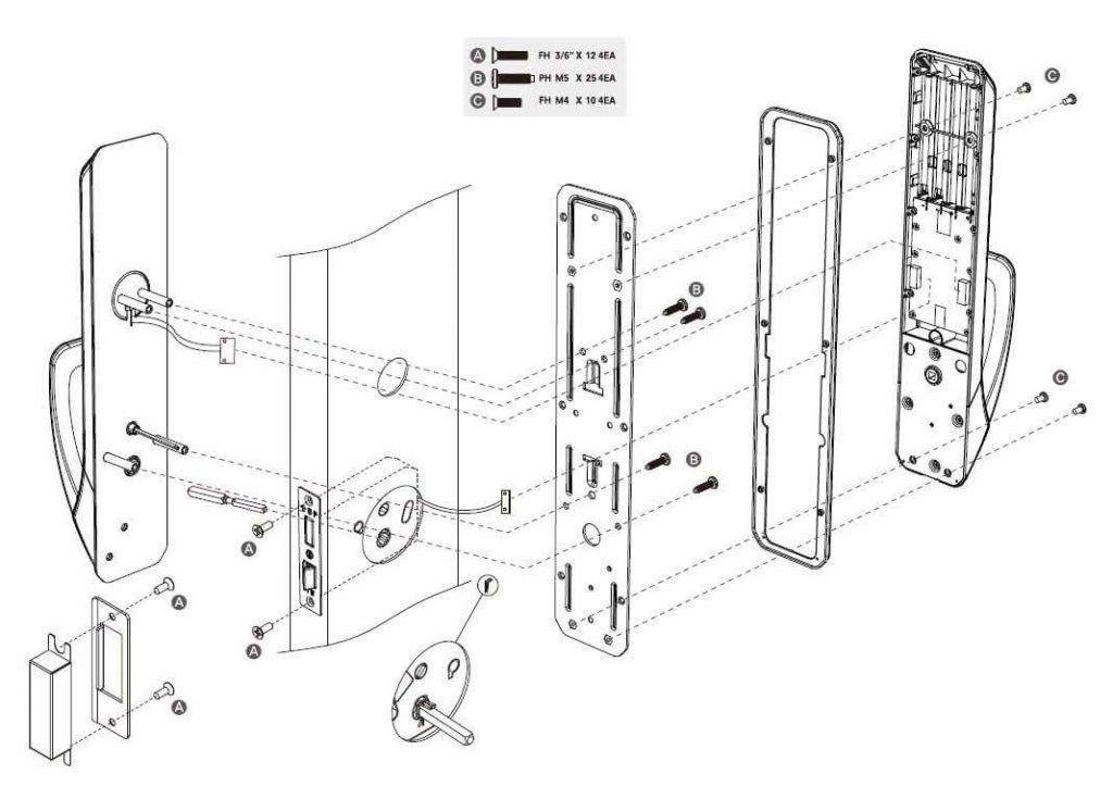نصب و راه اندازی آسان قفل دستگیره دیجیتال کوماکس مدل CDL-30LR