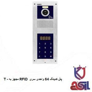 پنل کدینگ 64 واحدی سری T - مجهز به RFID